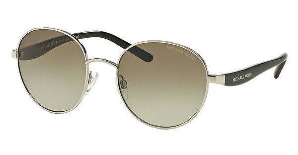 Michael Kors Damen Sonnenbrille »SADIE III MK1007« in 10018E - silber/grün