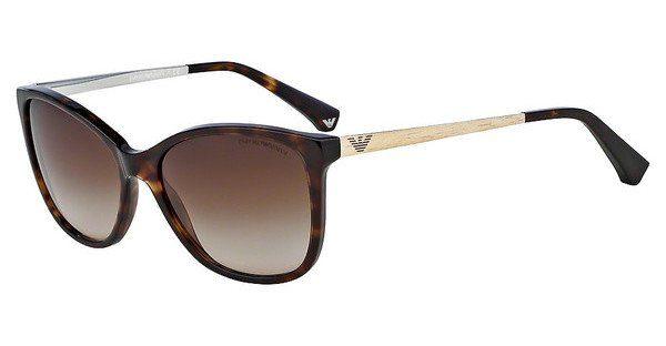 Emporio Armani Damen Sonnenbrille » EA4091«, braun, 502613 - braun/braun