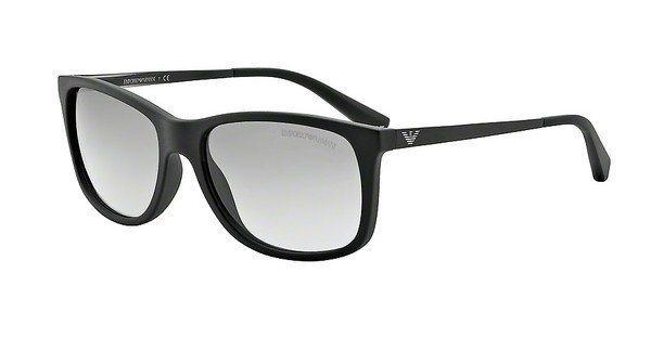 Emporio Armani Herren Sonnenbrille » EA4023« in 504211 - schwarz/grau