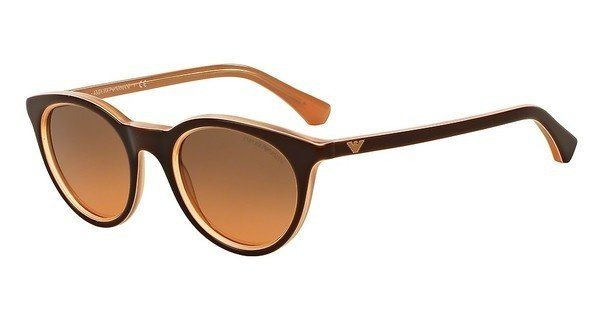 Emporio Armani Damen Sonnenbrille » EA4061« in 548018 - braun/orange