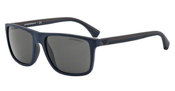 Emporio Armani Herren Sonnenbrille » EA4033« in 523087 - blau/schwarz