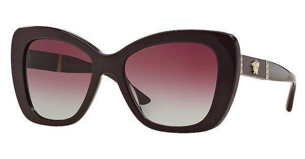Versace Damen Sonnenbrille » VE4305Q«, schwarz, 50664Q - schwarz/ rot