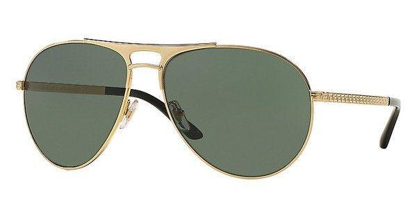 Versace Herren Sonnenbrille » VE2164« in 100271 - gold/ grün