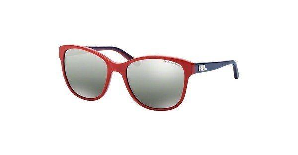 Ralph Lauren Damen Sonnenbrille » RL8123« in 53107G - rot/silber
