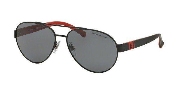 Polo Herren Sonnenbrille » PH3098« in 923081 - schwarz/grau