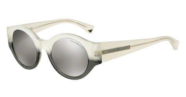 Emporio Armani Herren Sonnenbrille » EA4044« in 53656G - weiß/silber