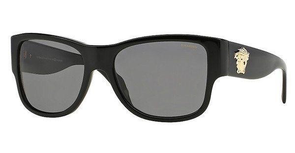 Versace Herren Sonnenbrille » VE4275« in GB1/81 - schwarz/grau