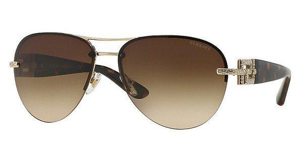 Versace Damen Sonnenbrille » VE2159B« in 125213 - gold/braun
