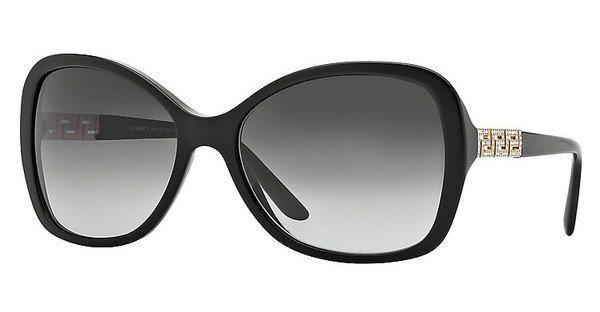 Versace Damen Sonnenbrille » VE4271B« in GB1/8G - schwarz/grau