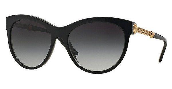 Versace Damen Sonnenbrille » VE4292« in GB1/8G - schwarz/grau