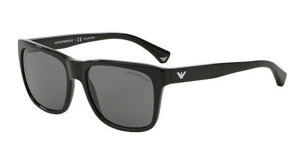 Emporio Armani Herren Sonnenbrille » EA4041« in 501781 - schwarz/grau