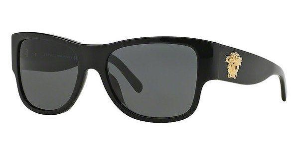 Versace Herren Sonnenbrille » VE4275« in GB1/87 - schwarz/grau
