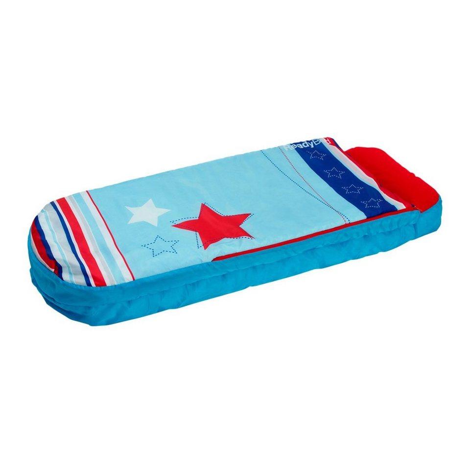 WORLDSAPART Kinderschlafsack - ReadyBed Junior STARS & STRIPES 150 x 62 cm in blau