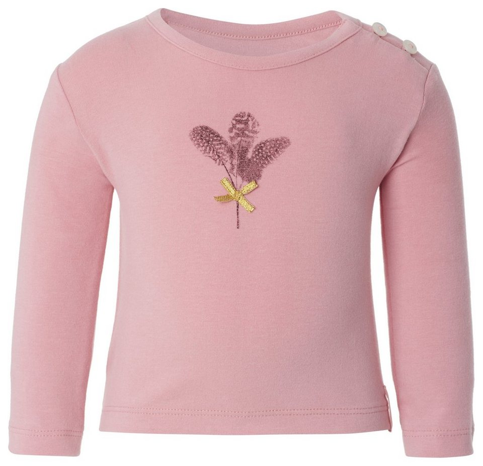 NOPPIES Langarmshirt »Sue« in Rose