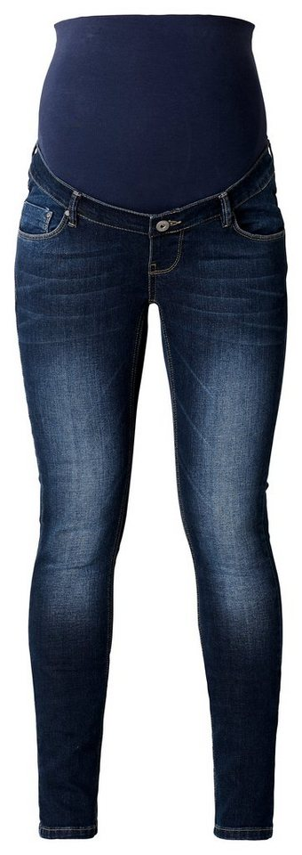 NOPPIES Slim Umstandsjeans »Mia« in Dark Stone Wash