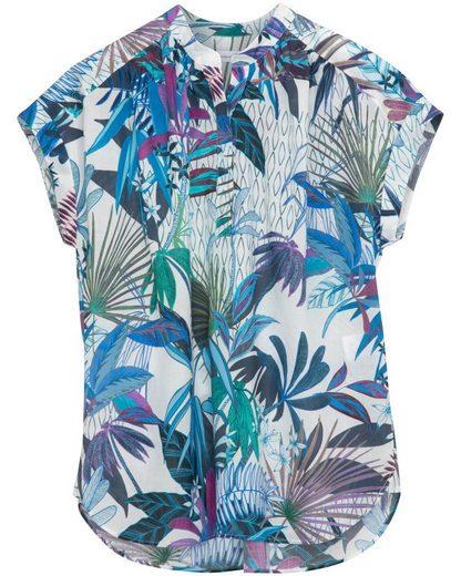 seidensticker Kurzarmbluse »Kurzarm-Bluse mit Blätterprint«