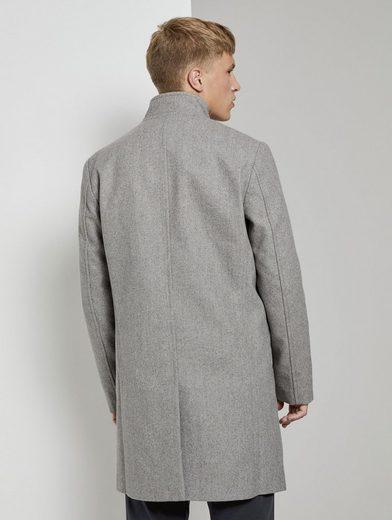 TOM TAILOR Denim Langmantel »Moderner Mantel aus Wollgemisch«
