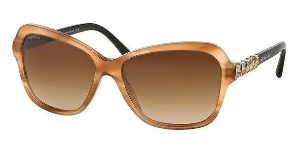Bvlgari Damen Sonnenbrille » BV8142B« in 523513 - braun/braun