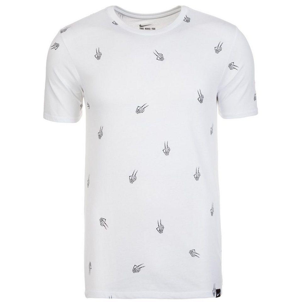 NIKE Kyrie Peace Bones T-Shirt Herren in weiß / schwarz