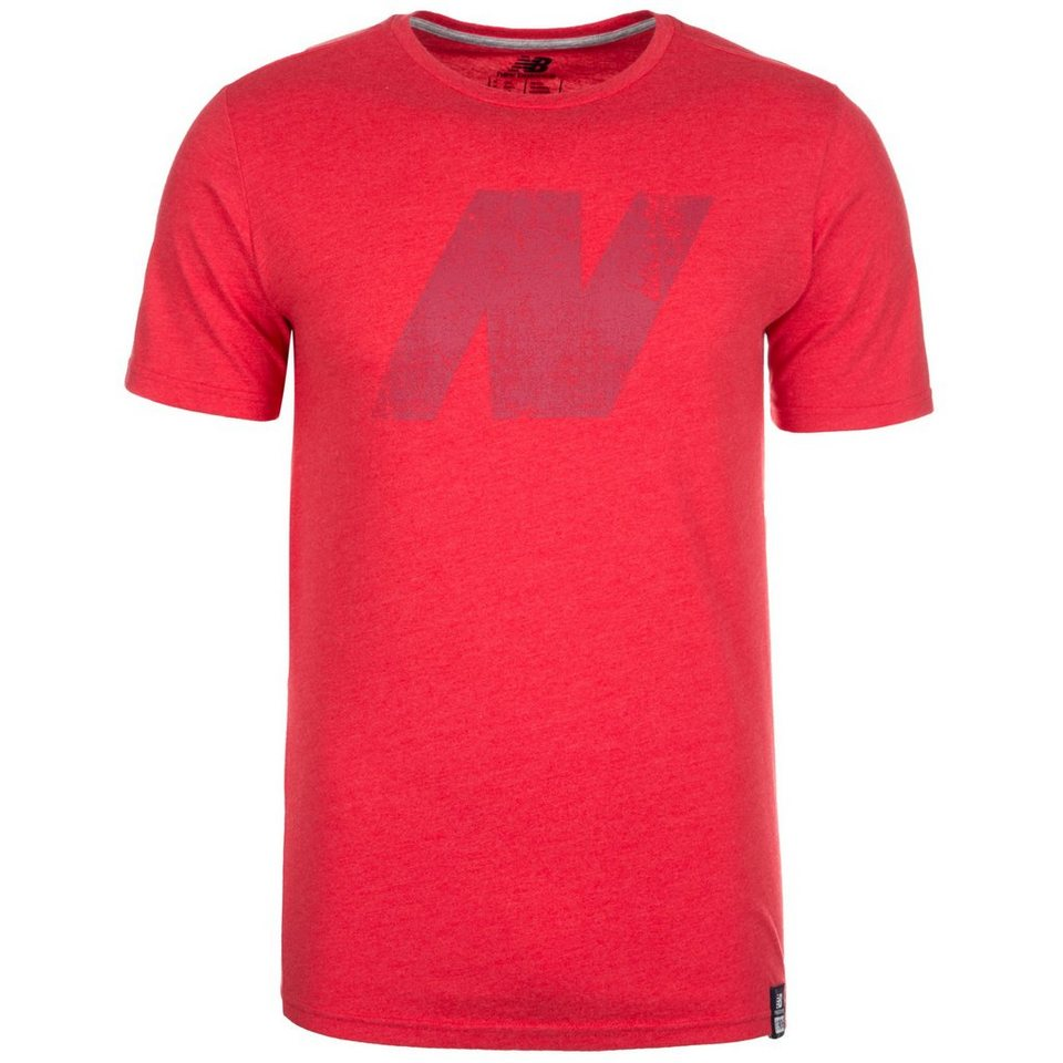 NEW BALANCE MT61554 N T-Shirt Herren in rot