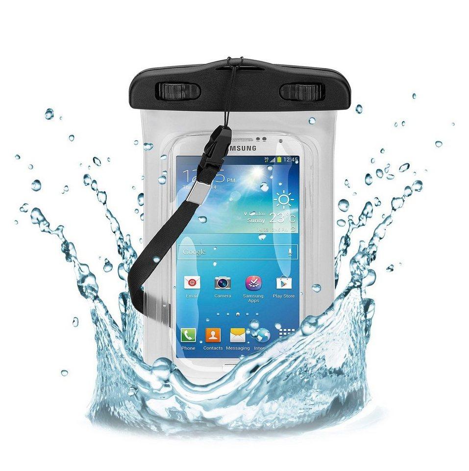 """goobay Beachbag für Smartphones »bis 5,5""""« in transparent, weiß"""