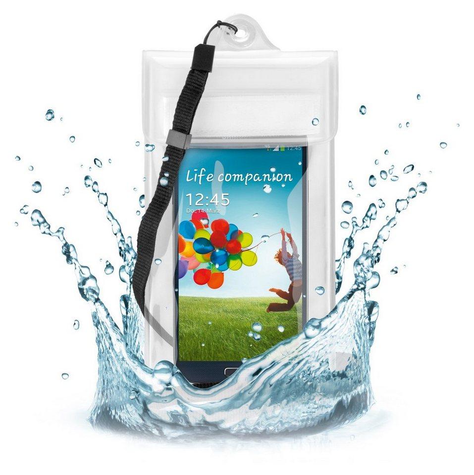 """goobay Beachbag für Smartphones »bis 5""""« in transparent, weiß"""
