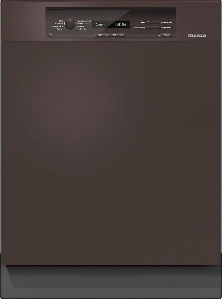 MIELE Teilintegrierbarer Geschirrspüler G 6840 SCi HVBR, A+++, 9,9 Liter, 14 Maßgedecke in braun
