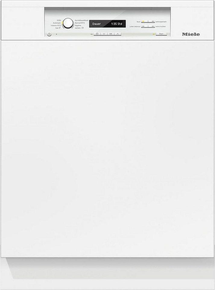 MIELE Teilintegrierbarer Geschirrspüler G 6845 SCi XXL BRWS, A+++, 9,9 Liter, 14 Maßgedecke in weiß