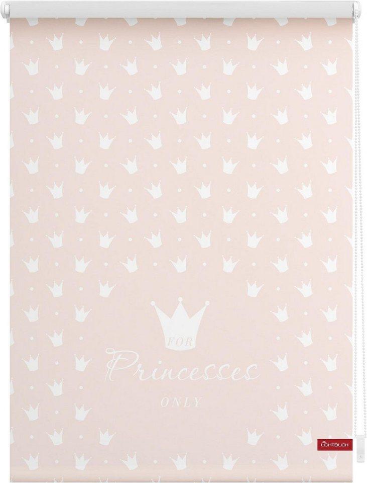 Seitenzugrollo, Lichtblick, »Klemmfix Dekor Prinzessin Lilly«, Lichtschutz, Fixmaß, ohne Bohren in rosa