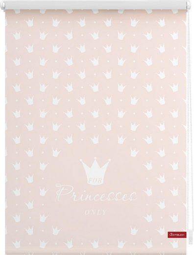 Seitenzugrollo »Klemmfix Motiv Prinzessin Lilly«, LICHTBLICK, Lichtschutz, ohne Bohren, freihängend, bedruckt