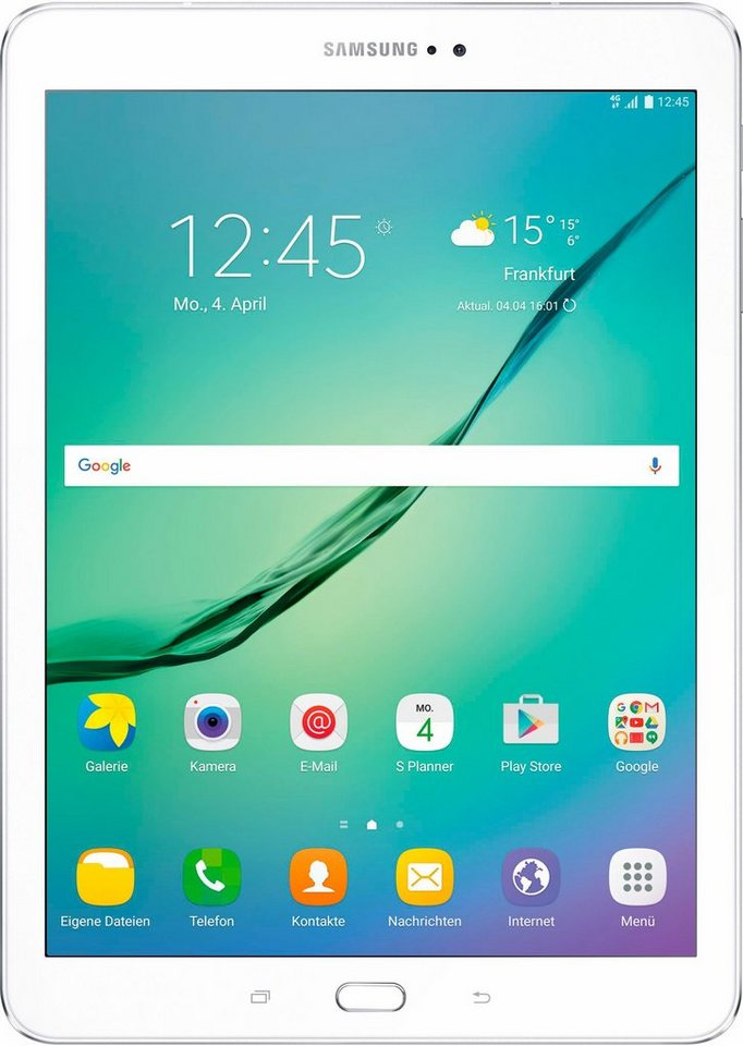 Samsung Galaxy Tab S2 9.7 LTE Tablet-PC, Android 6.0, Octa-Core, 24,6 cm (9,7 Zoll), 3072 MBLPDDR3 in weiß