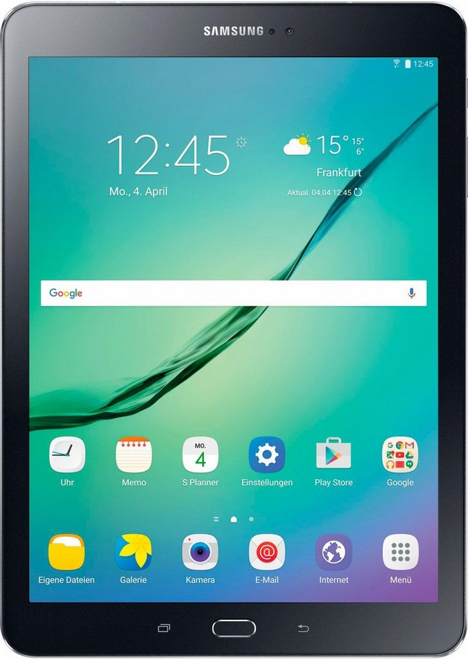 Samsung Galaxy Tab S2 9.7 WiFi Tablet-PC, Android 6.0, Octa-Core, 24,6 cm (9,7 Zoll), 3072 MBLPDDR3 in schwarz