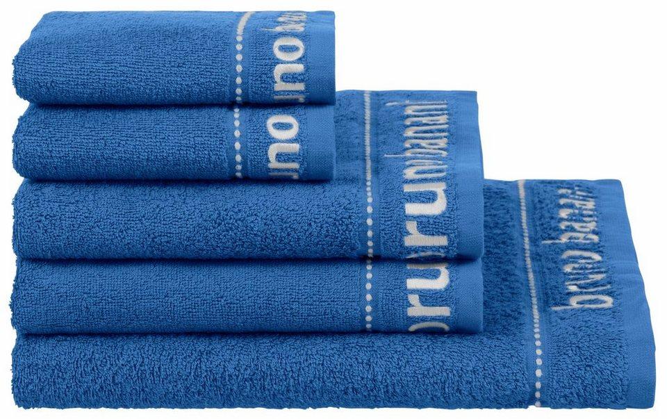 Handtuch Set, Bruno Banani, »Cosimo«, mit kleinen Streifen in blau