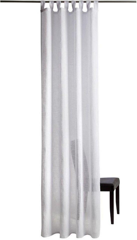 Gardine, Homing, »Finja«, mit Schlaufen (1 Stück) in weiß