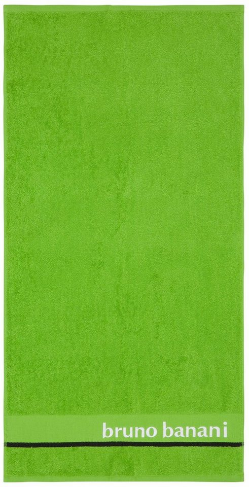Badetuch, Bruno Banani, »Eric«, mit Logostickerei in grün