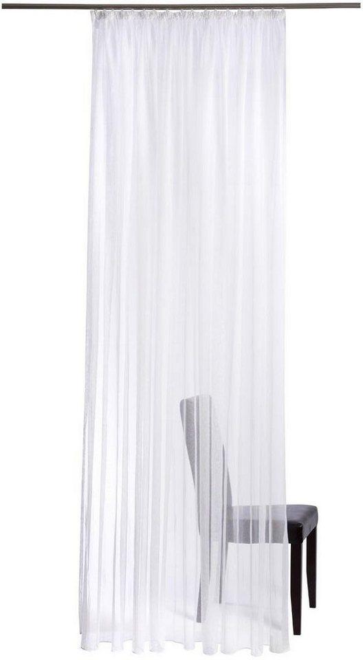 Gardine, Homing, »Tampa«, mit Kräuselband (1 Stück) in weiß