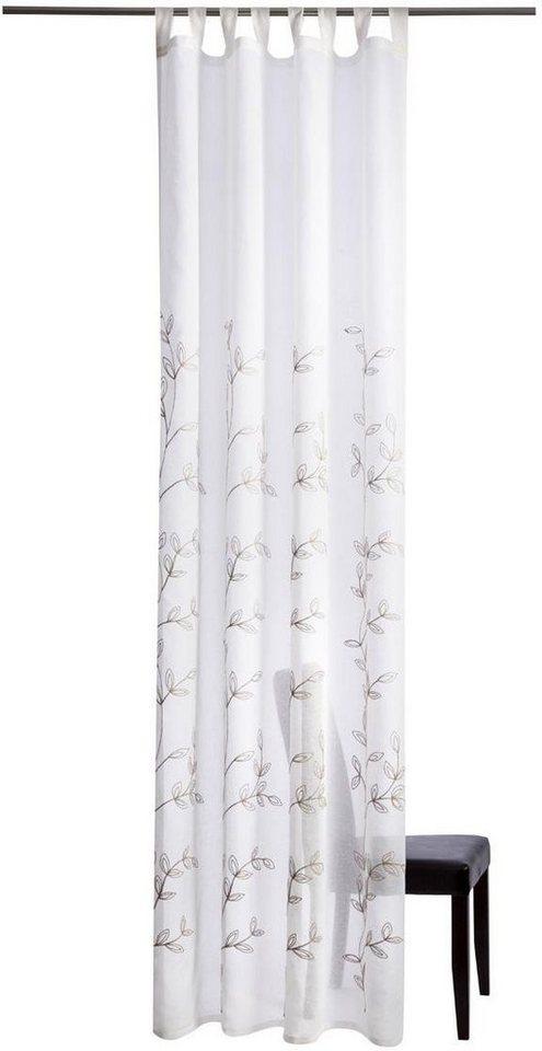 Gardine, Homing, »Svea«, mit Schlaufen (1 Stück) in weiß/grau