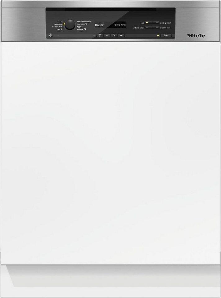 MIELE Teilintegrierbarer Geschirrspüler G 6845 SCi XXL EDST/CLST, A+++, 9,9 Liter, 14 Maßgedecke in silberfarben