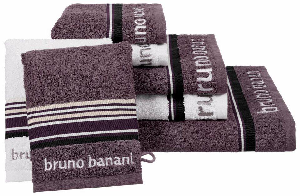 bruno banani handtuch set maja mit farbiger bord re. Black Bedroom Furniture Sets. Home Design Ideas