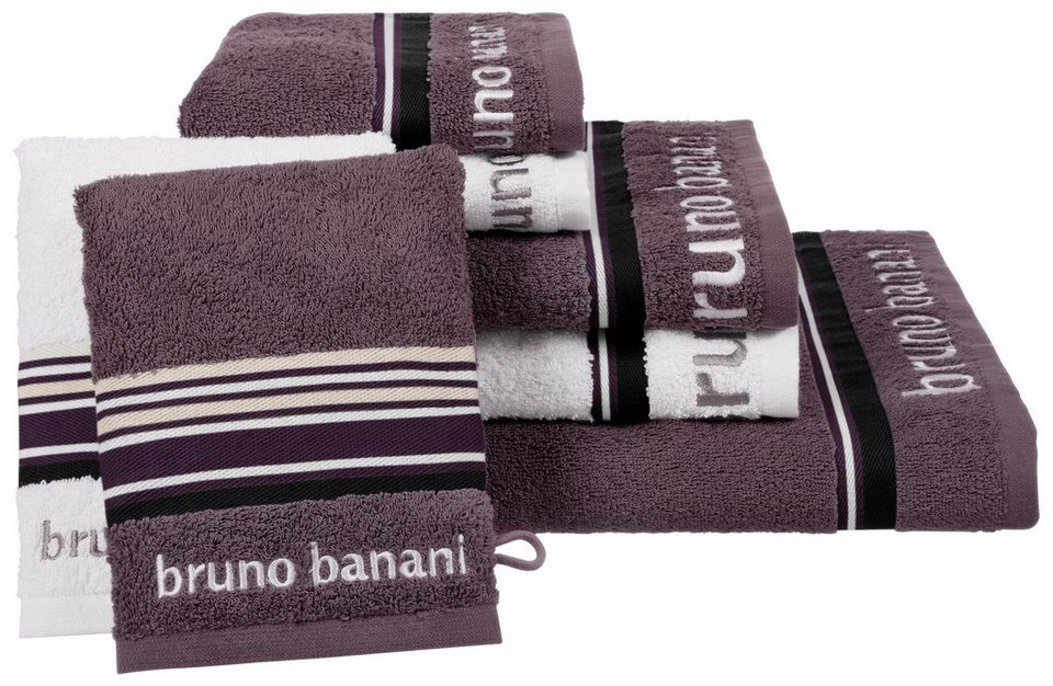 handtuch set bruno banani maja mit farbiger bord re online kaufen otto. Black Bedroom Furniture Sets. Home Design Ideas