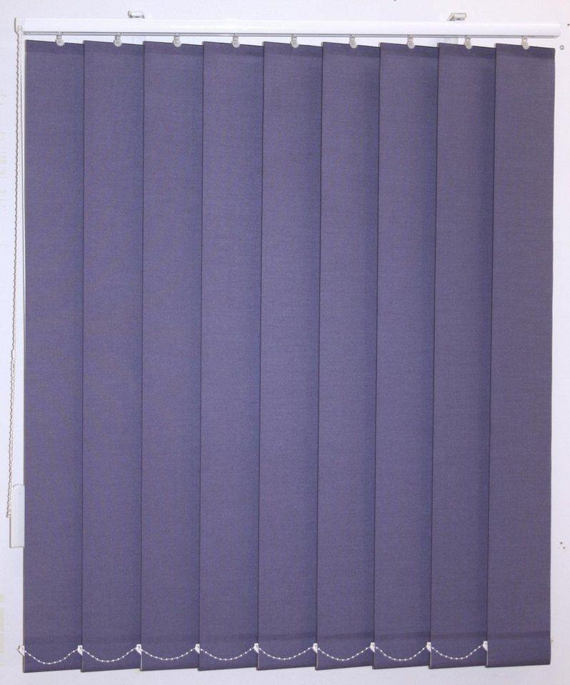 Vertikal-Lamellenvorhang, Sunlines, im Wunschmaß in amethyst uni