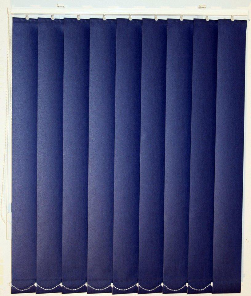 Vertikal-Lamellenvorhang, Sunlines, im Wunschmaß in blau uni
