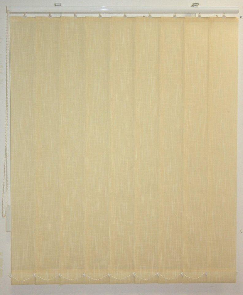 Vertikal-Lamellenvorhang, Sunlines, im Wunschmaß in gelb in Linenoptik