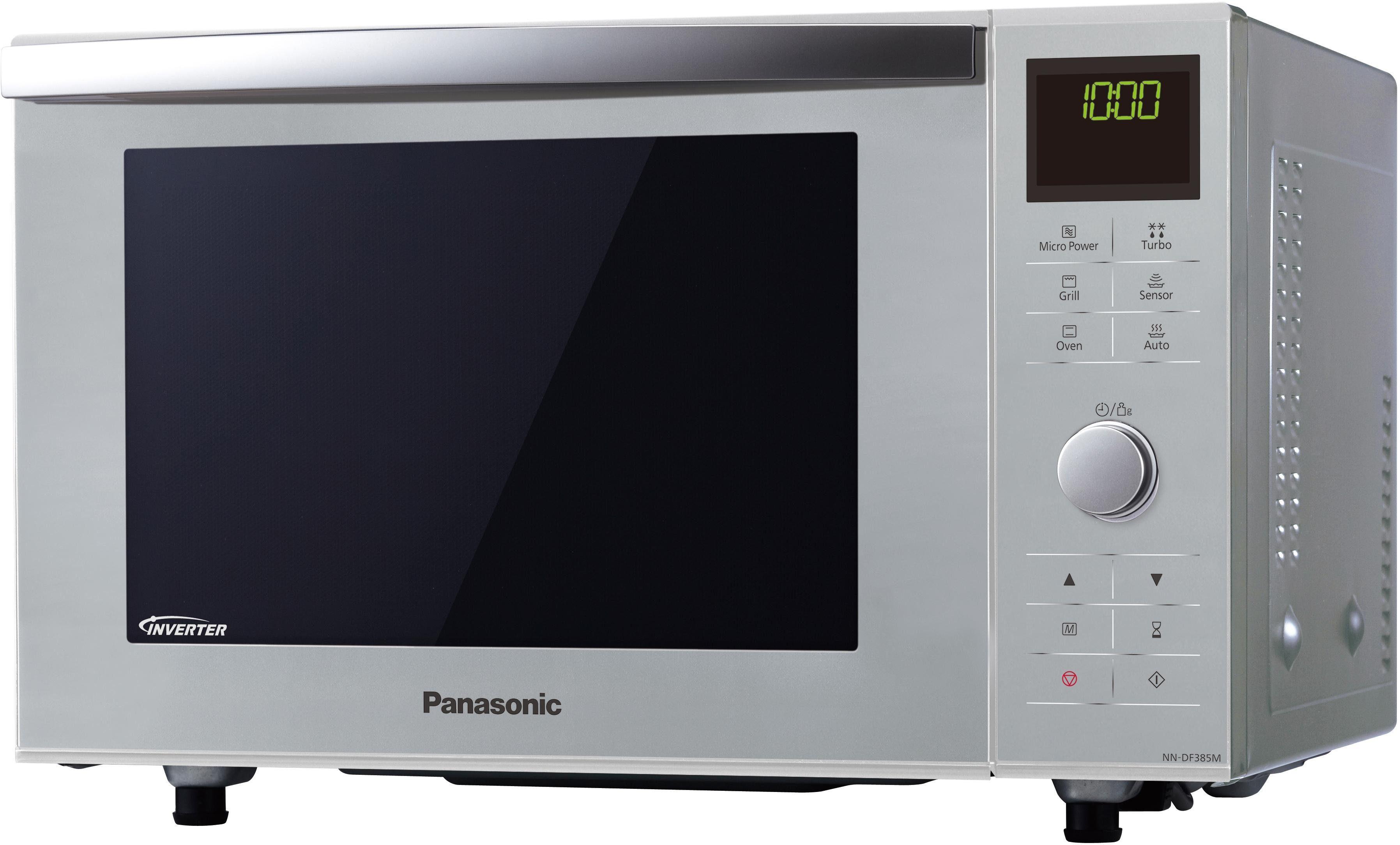 Panasonic Inverter Mikrowelle NN-DF385MEPG, mit Grill, 23 Liter Garraum, 1000 Watt