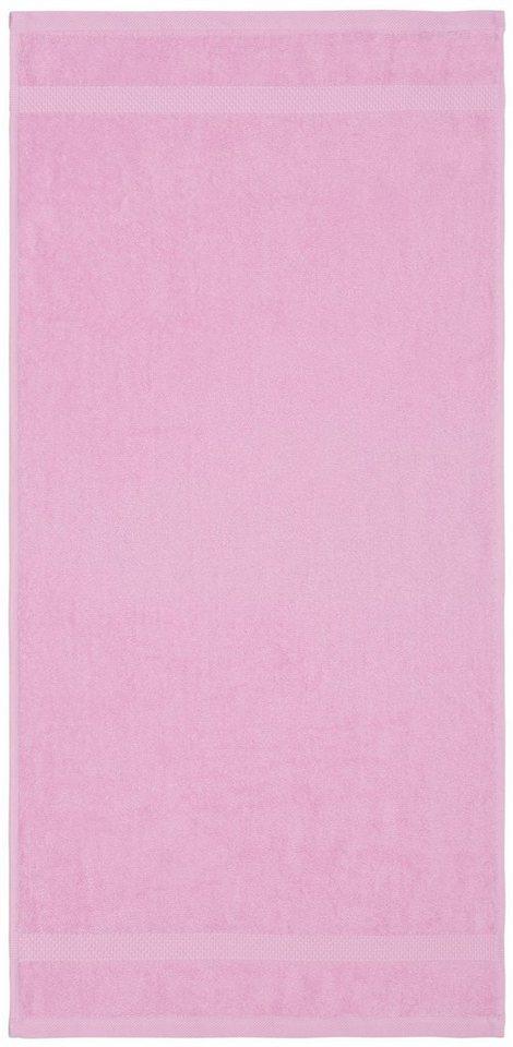 Saunatuch, Dyckhoff, »Planet«, mit schlichter Bordüre in rose