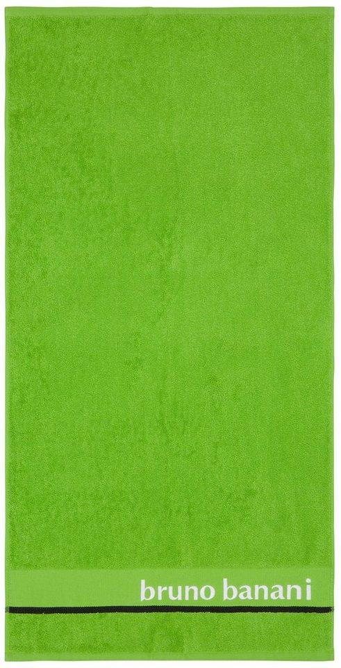 Handtücher, Bruno Banani, »Eric«, mit Logostickerei in grün