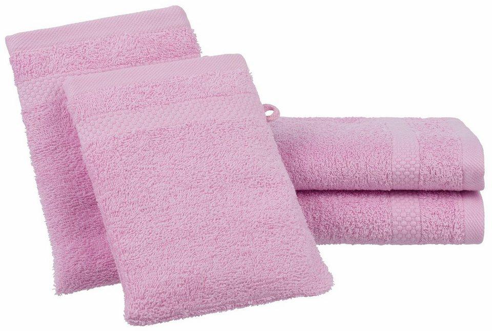 Handtuch Set, Dyckhoff, »Planet«, mit schlichter Bordüre in rose