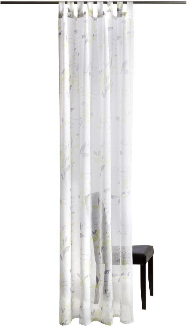 Gardine, Homing, »Leaf«, mit Schlaufen (1 Stück)