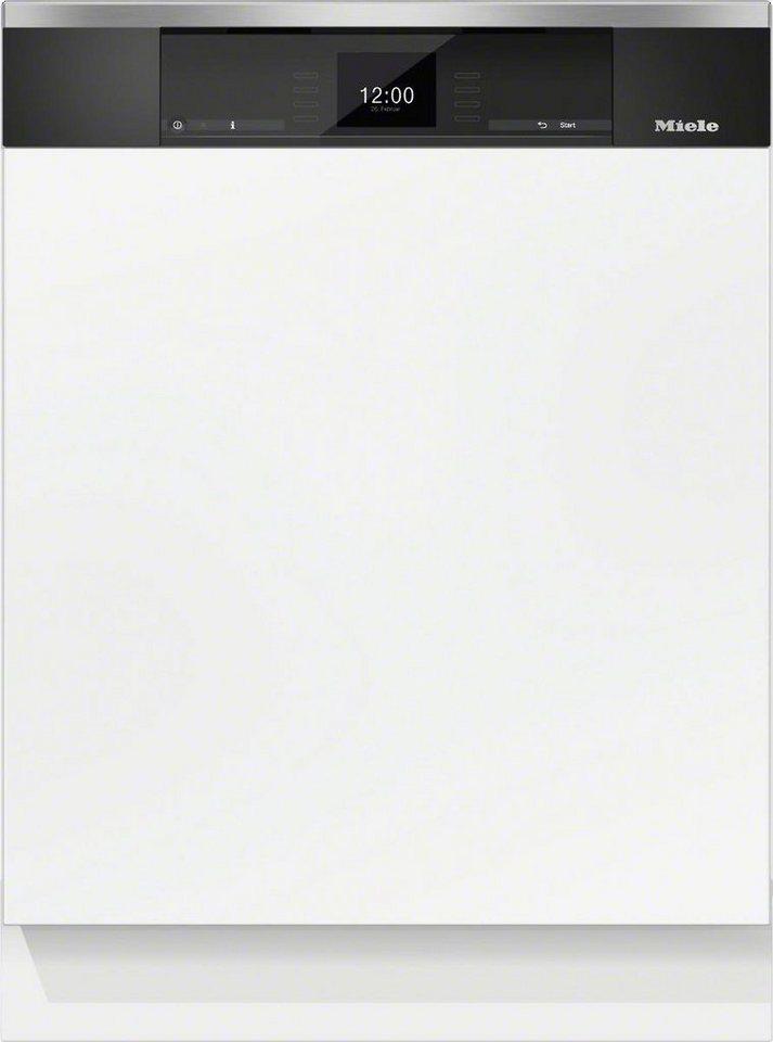 MIELE Teilintegrierbarer Geschirrspüler G 6920 SCi EDST/CLST, A+++, 9,9 Liter, 14 Maßgedecke in silberfarben