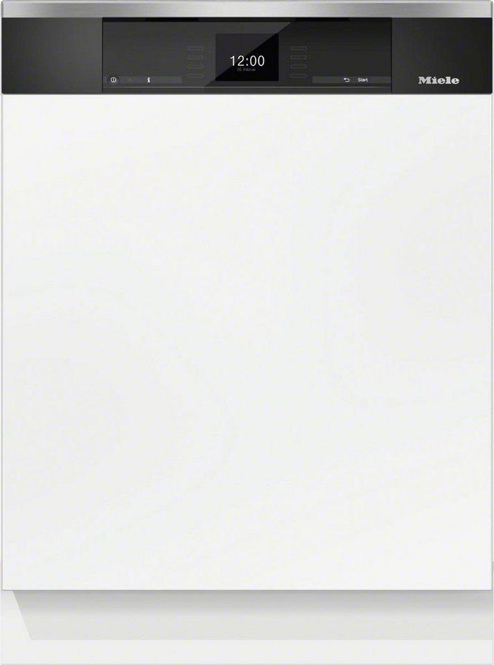 MIELE Teilintegrierbarer Geschirrspüler G 6925 SCi XXL EDST/CLST, A+++, 9,9 Liter, 14 Maßgedecke in silberfarben